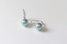 Náušnice perle modrá