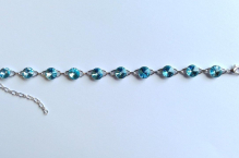 Náramek 0393 aquamarine