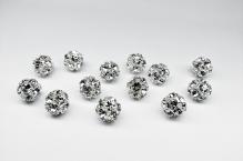 Šatonová kulička crystal 8mm stříbro