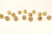 Šatonová kulička crystal 6mm zlato