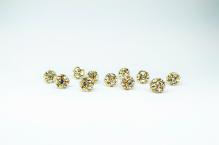 Šatonová kulička crystal 8mm zlato