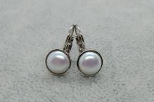 Naušnice bílá perle 587